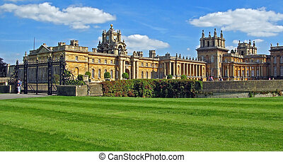 Blenheim Palace - Marlborough Estate, Churchill's birthplace. England. Blenheim Palace was a gift from Queen Anne to John Churchill, the first Duke of Marlborough, for his victory at the Battle of Blenheim in 1704.