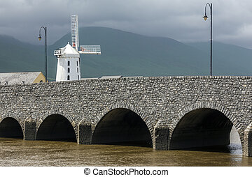 The Blennerville Windmill in County Kerry in the Republic of Ireland. Blennerville Windmill is a tower mill and the tallest of its kind in Europe at 21.3 metres high. It was built by Sir Rowland Blennerhassett in 1800 whom the village of Blennerville is named after. The windmill was used for ...