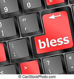 bless keyboard button on computer pc