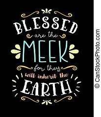 Blessed are the Meek Hand Lettering Poster