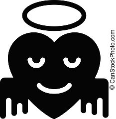 blessed vector glyph flat icon