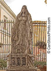 Blessed Virgin Mary statue in Gallipoli (Le)