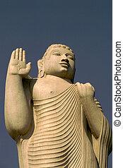 Blessing Buddha - Statue of Buddha, Hussain Sagar Lake,...