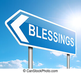 Blessings sign concept.
