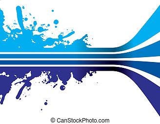 bleu, éclaboussure