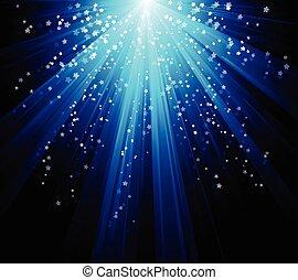 bleu, éclater, couleur, vecteur, conception, fichier, included