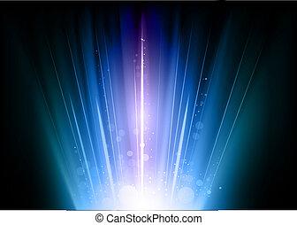 bleu, éclats (flares)