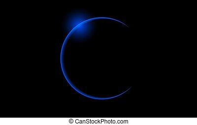 bleu, éclipse, solaire