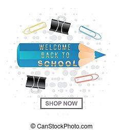 bleu, école, règle, couleur, illustration, dessin animé,...