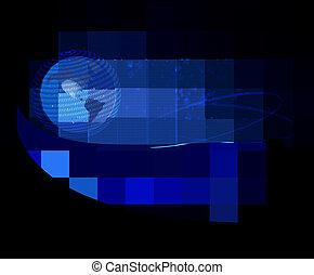 bleu, élégant, business, fond