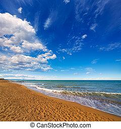 bleu, été, denia, ciel, alicante, plage, espagne