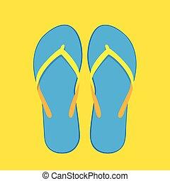 bleu, été, isolé, jaune, chiquenaude, collection, fond, nager, opérations virgule flottante, usure