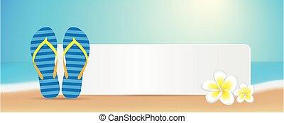 bleu, été, opérations virgule flottante, espace, frangipanier, chiquenaude, message, fleurs, plage, ton
