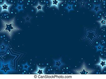 bleu, étoiles, fond