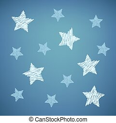 bleu, étoiles, fond, gentil