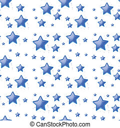 bleu, étoiles, fond, seamless