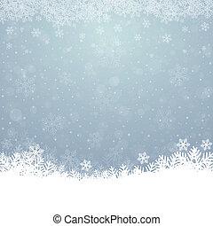 bleu, étoiles, neige, fond, automne, blanc
