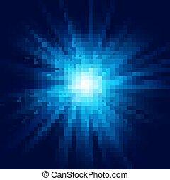 bleu, 10, concentration étoile, effect., flamme, eps, profond, explosion légère, transparent, lueur