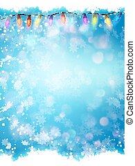 bleu, 10, flocons neige, eps, arrière-plan., noël