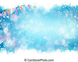 bleu, 10, flocons neige, voler, eps, arrière-plan.