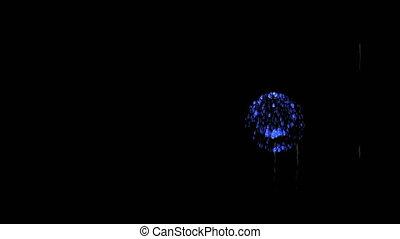 bleu, 12, coloré, spectaculaire, render., feux artifice, firecrakers, version, night., 3d