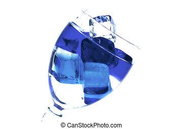 bleu, 3, glace