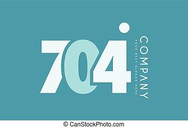 bleu, 704, nombre, conception, cyan, logo, blanc, icône