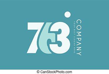 bleu, 763, nombre, conception, cyan, logo, blanc, icône