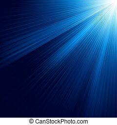 bleu, 8, lumineux, eps, rays.
