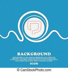 bleu, a tacheté, intestin, espace, texte, signe., résumé, grand, vecteur, fond, blanc, ton, design.