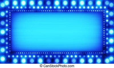 bleu allume, clignotant, bannière, boucle