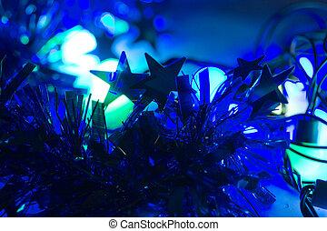 bleu allume, fond