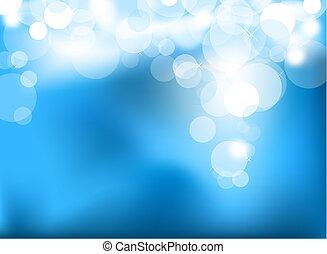bleu allume, incandescent