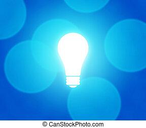 bleu, ampoule, fond