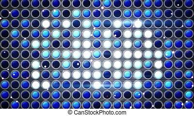 bleu, ampoules, fête, gyrophare