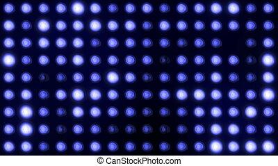 bleu, ampoules, mené, fond
