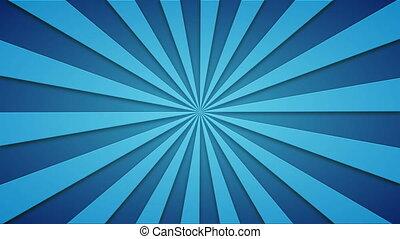 bleu, animé, métrage, beams., loopable, tourner, 4k, fond, video.