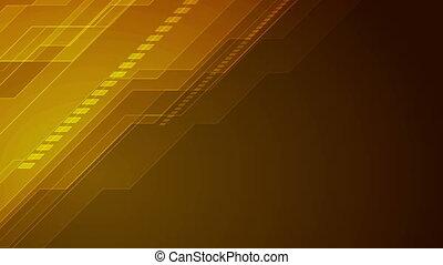 bleu, animation, vidéo, orange, technologie, futuriste