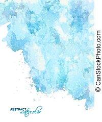 bleu, aquarelle, résumé, vecteur, bac