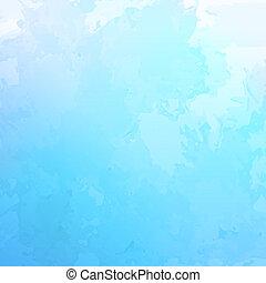 bleu, aquarelle, résumé, vecteur, fond
