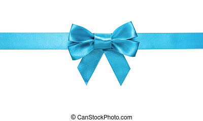 bleu, arc, azur, horizontal, frontière, ruban