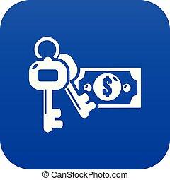 bleu, argent, sûr, vecteur, icône