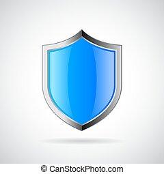 bleu, armure, bouclier, icône