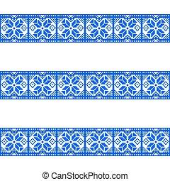 bleu, arrière-plan., blanc, motifs