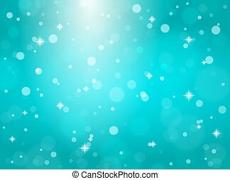 bleu, arrière-plan., flocons neige, noël