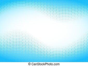 bleu, arrière-plan., halftone
