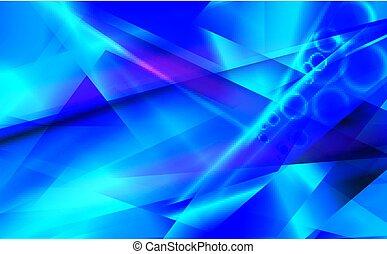 bleu, arrière-plan., résumé, futuriste