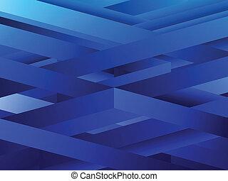 bleu, arrière-plan., résumé, lignes, géométrique
