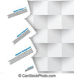 bleu, arrière-plan., résumé, vecteur, polygone