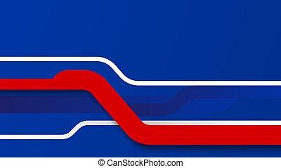 bleu, arrière-plan rouge, résumé, mouvement, vague